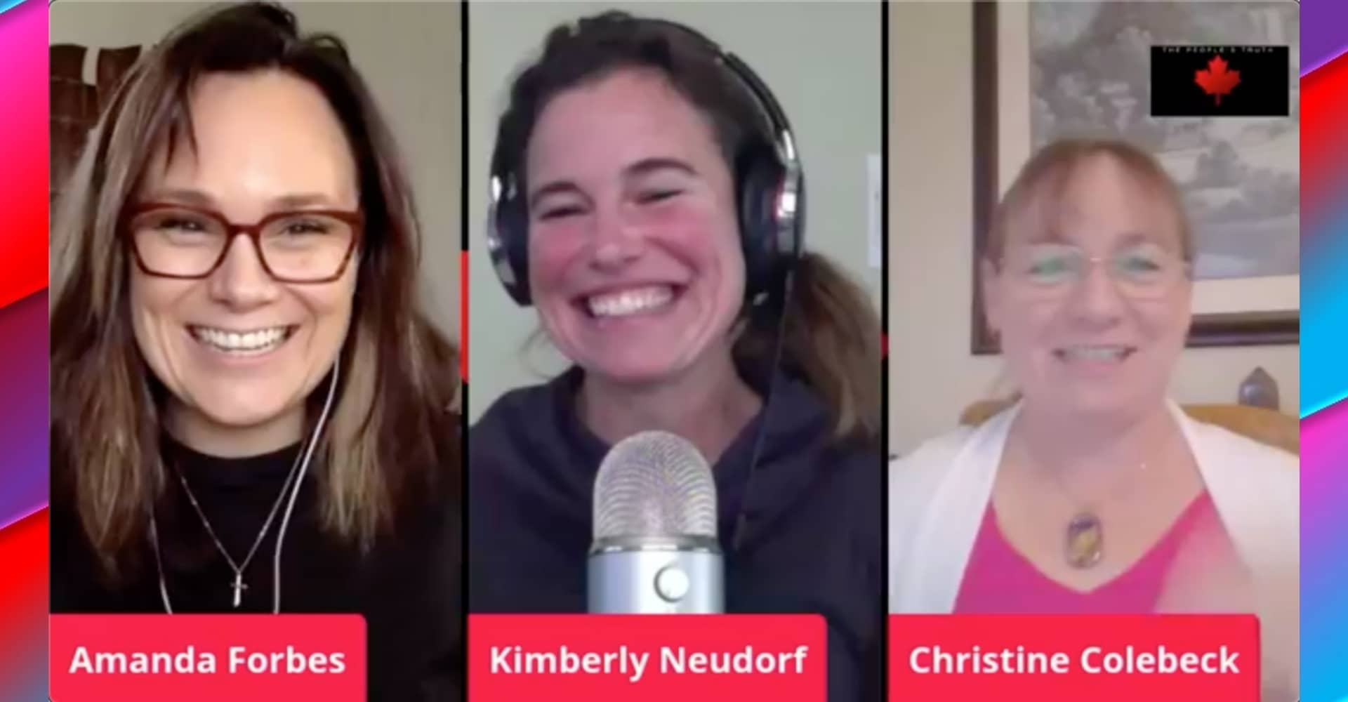 Amanda Forbes Kimberly Neudorf Christine Colebeck video podcast Aylmer Freedom Rally Recap