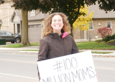 First Freedom March Aylmer Ontario Kimberly Neudorf big smile 6