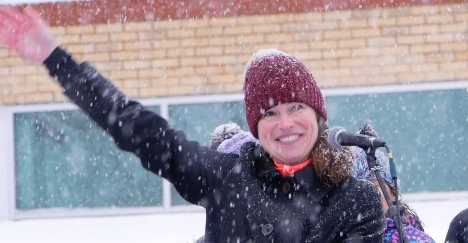 Moms Provide Space Kimberly Neudorf Speech London Ontario Freedom Rally with Kristen Nagle