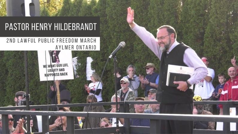 Second Aylmer Freedom Rally Speeches Henry Hildebrandt