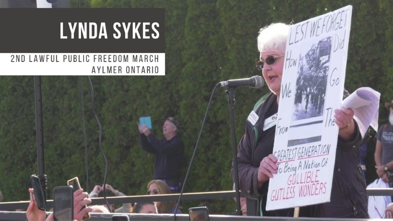 Second Aylmer Freedom Rally Speeches Lynda Sykes