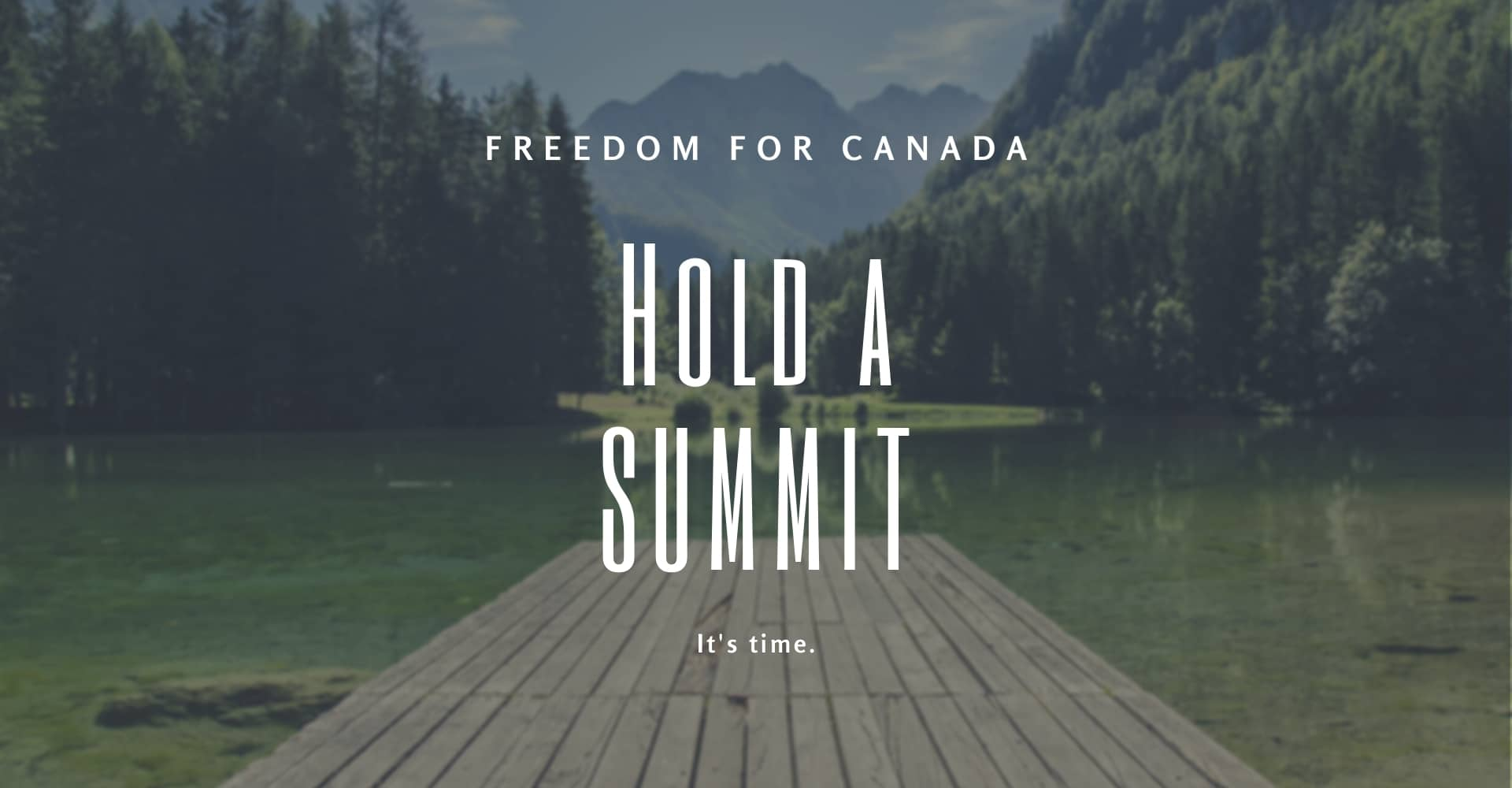 Freedom for Canada Hold a Summit Terry Neudorf