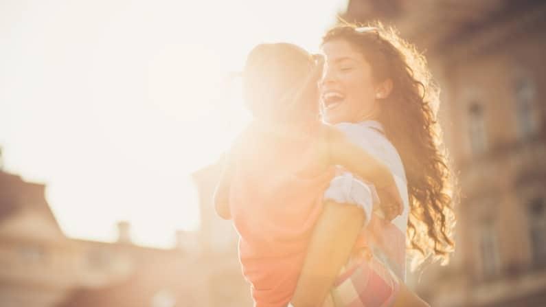 Let your light shine Mother child smiles bright light sunshine Kimberly Neudorf