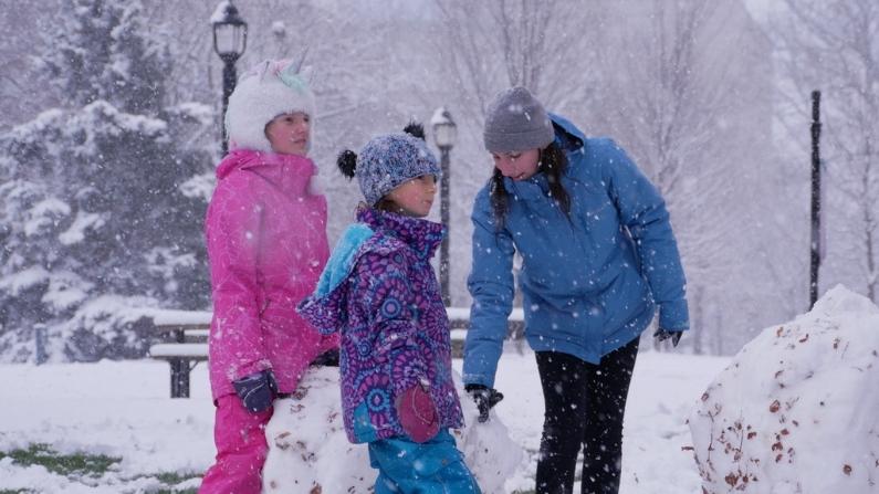 London Ontario Freedom Rally with Kristen Nagle Kimberly Neudorf family in the snow