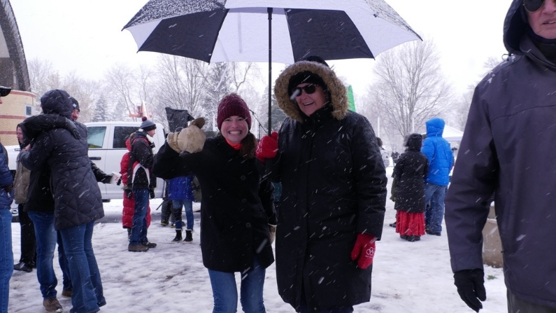London Ontario Freedom Rally with Kristen Nagle Kimberly Neudorf new friends 2