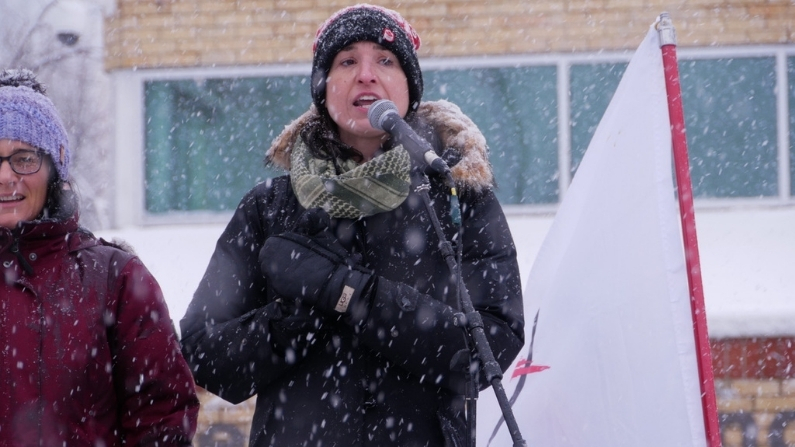 London Ontario Freedom Rally with Kristen Nagle Kimberly Neudorf speaking