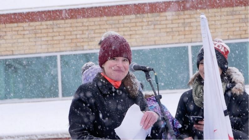 London Ontario Freedom Rally with Kristen Nagle Kimberly Neudorf speaking 3
